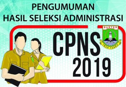 CALON PEGAWAI NEGERI SIPIL PEMERINTAH PROVINSI BANTEN TAHUN 2019