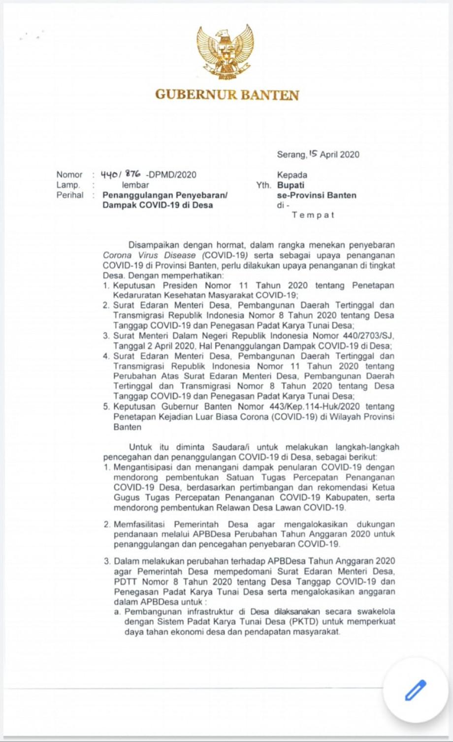 Press Realease Website Resmi Pemerintah Provinsi Banten